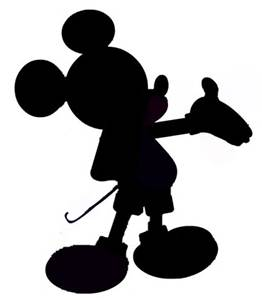 262x300 Free Download Mickey Mouse Head Silhouette Hd Wallpaper Car