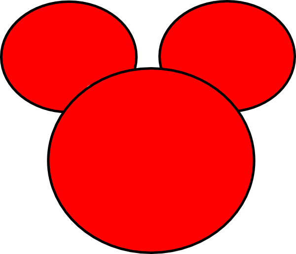600x515 Mickey Mouse Ears Outline