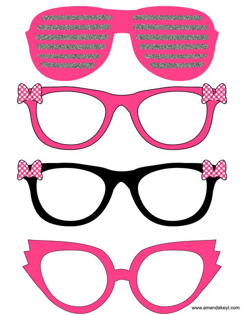 500x647 Minnie Mouse Glasses Printable