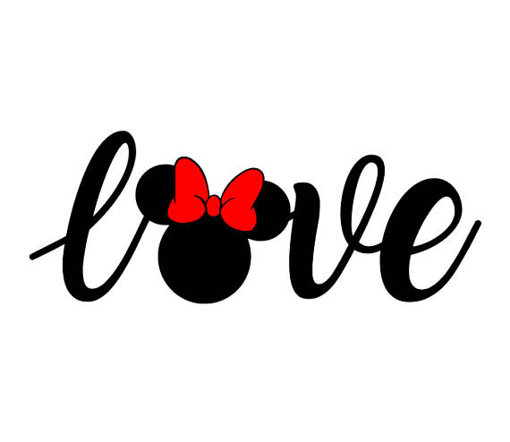 570x494 Disney Svg, Love Disney Svg, Love Minnie Svg, Love Minnie Mouse