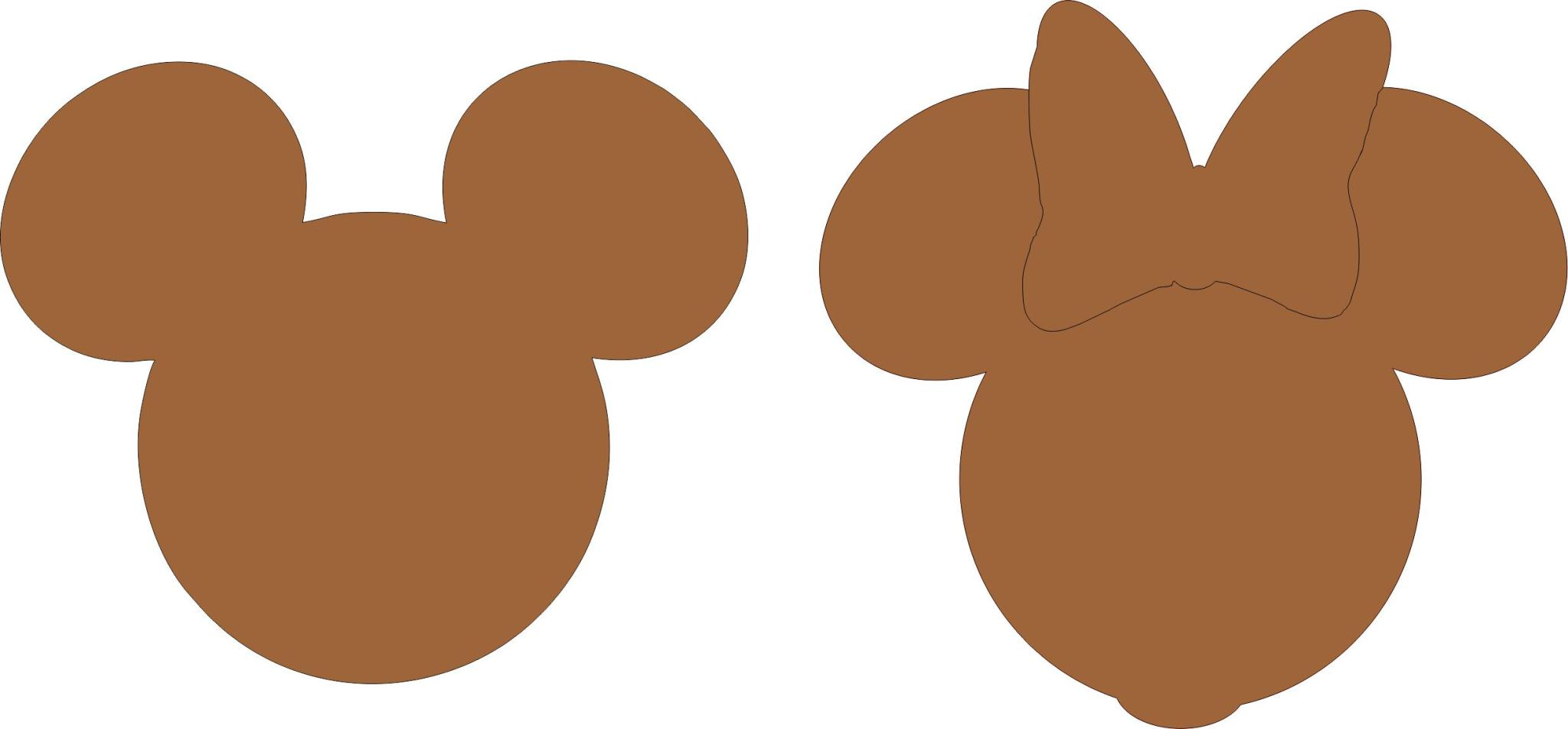 2048x952 Free Outline Of Mickey Mouse Head, Hanslodge Clip Art Collection