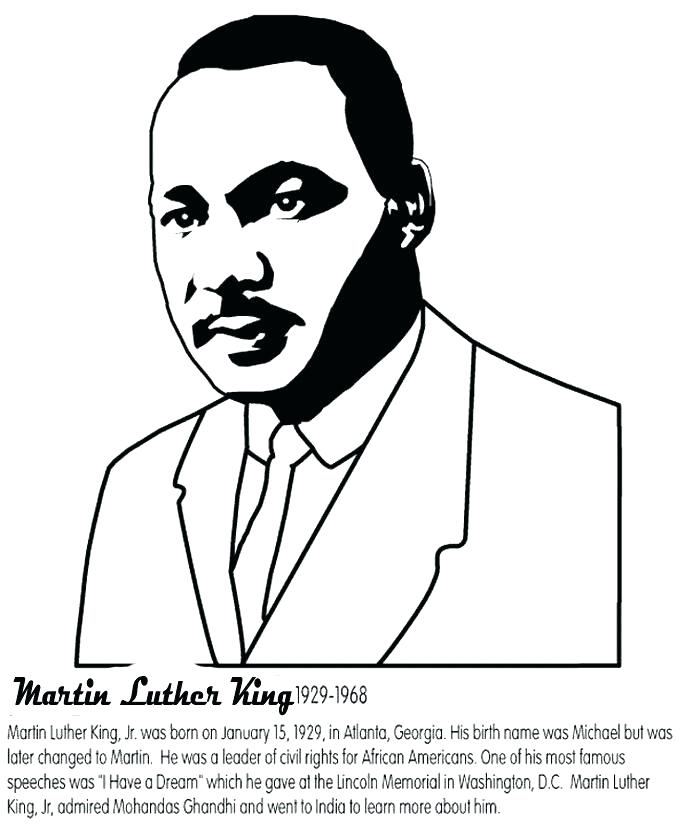 Crush image for martin luther king coloring sheets printable