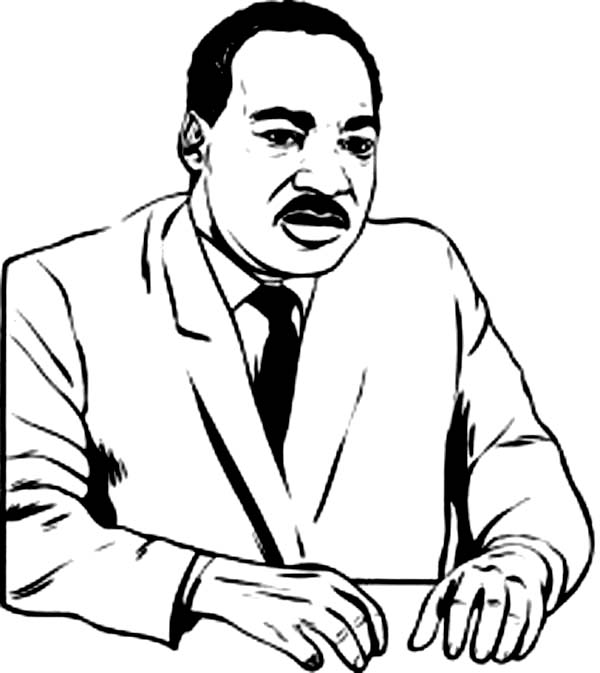 600x673 Martin Luther King Jr Coloring Page