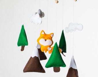 340x270 Mountain Baby Mobile Etsy