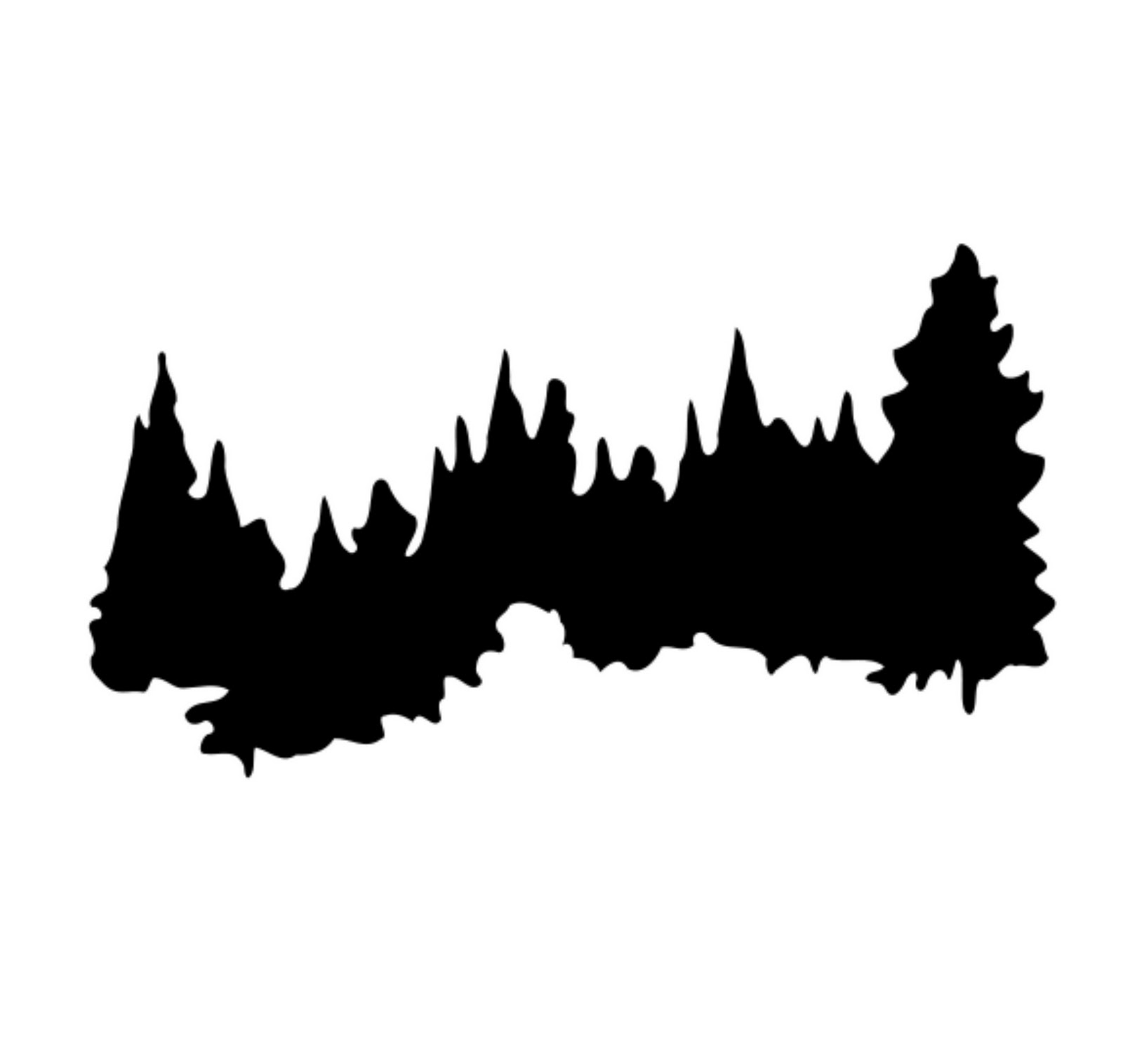 1600x1497 Mountain Clipart Forest Silhouette