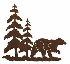 236x217 Bear Forest 3 D Metal Wall Art Cabin Rugs And Decor