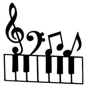 Silhouette Of Music Notes