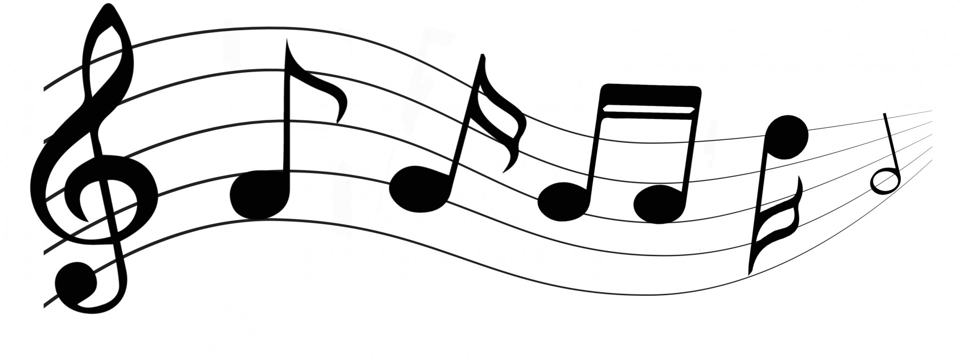 1920x724 Musical Notes Free Stock Photo