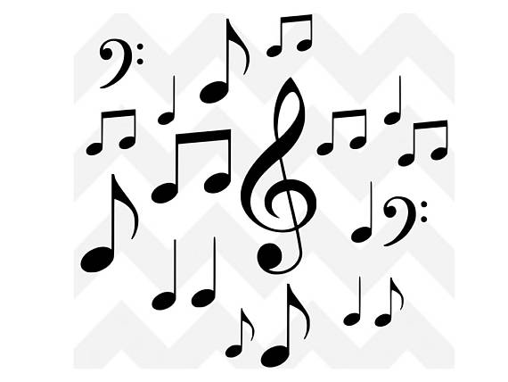 570x428 Musical Notes Svg Music Bundle Svg Music Svg Cutting File