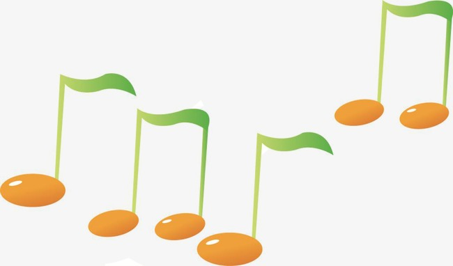 650x382 Creative Music Notes Silhouette,color Notes, Vector Note, Cartoon