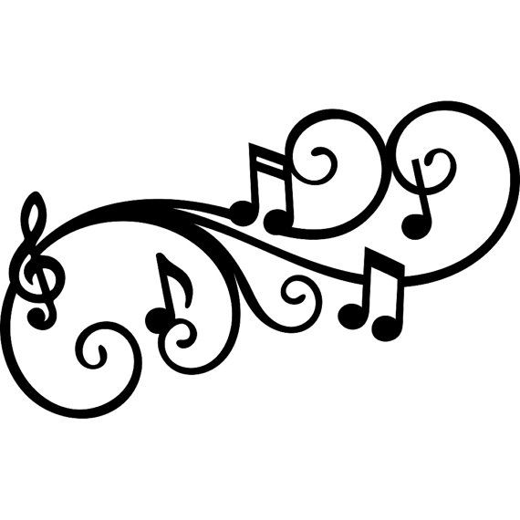 570x570 Melody Flourish Music Note Svg Dxf Digital Download File