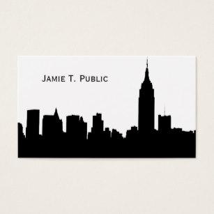307x307 New York City Skyline Silhouette Business Cards Amp Templates Zazzle