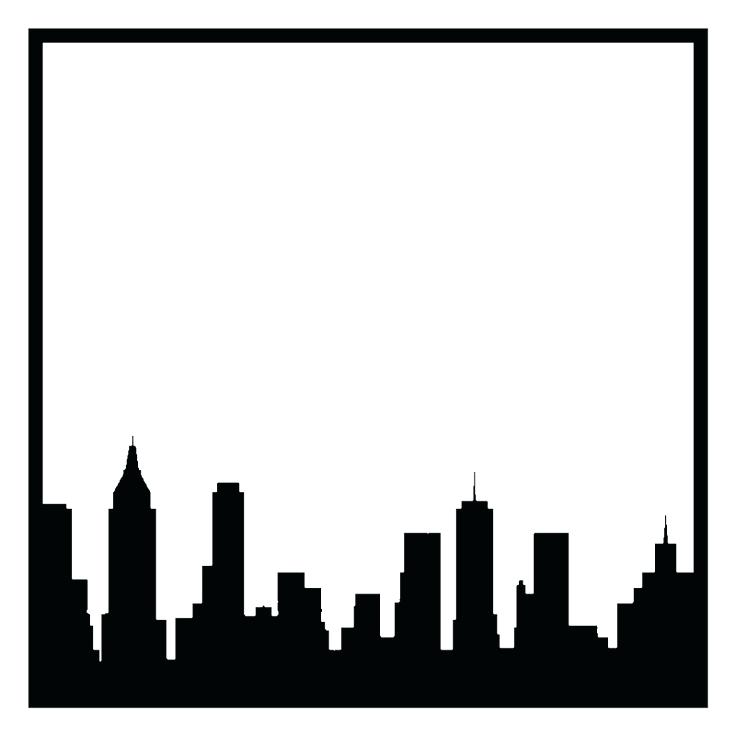 736x736 City Skyline Coloring Pages