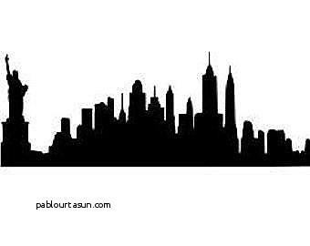 silhouette of new york city skyline at getdrawings com free for