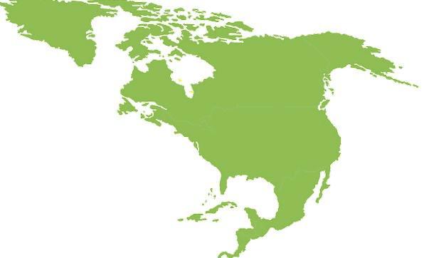 596x362 Map, Chart, Continent, Landmass, North America, Rotated