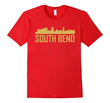 385x360 South Bend Indiana Skyline Silhouette T Shirt Clothing