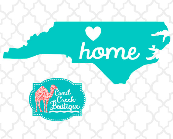 570x457 Items Similar To North Carolina Home Silhouette Studio Cut Files