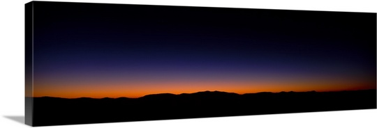 540x184 Silhouette Of A Mountain Range, Richland Balsam, Black Balsam