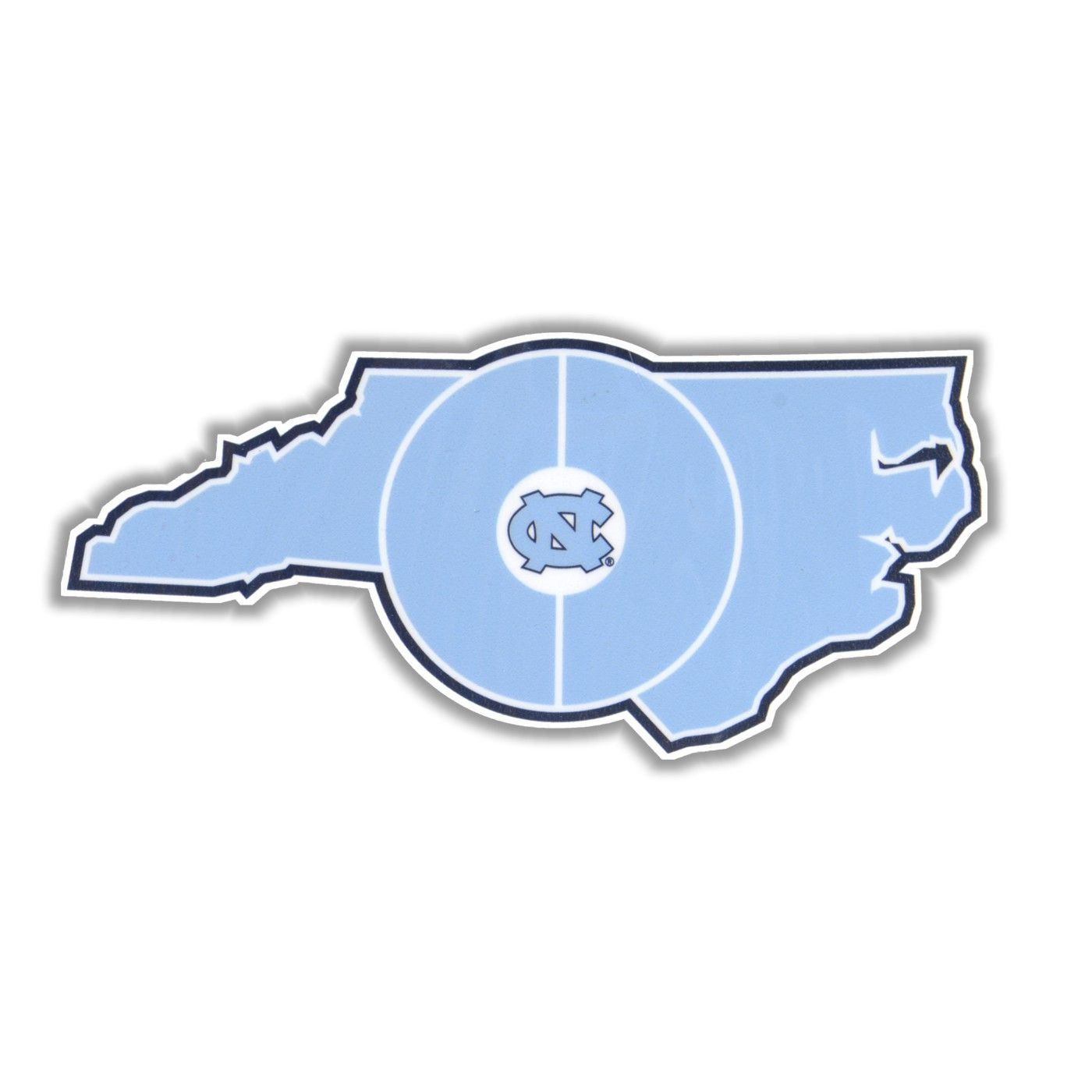 1400x1400 Small State Of Nc Basketball Court Logo Window Decal Basketball