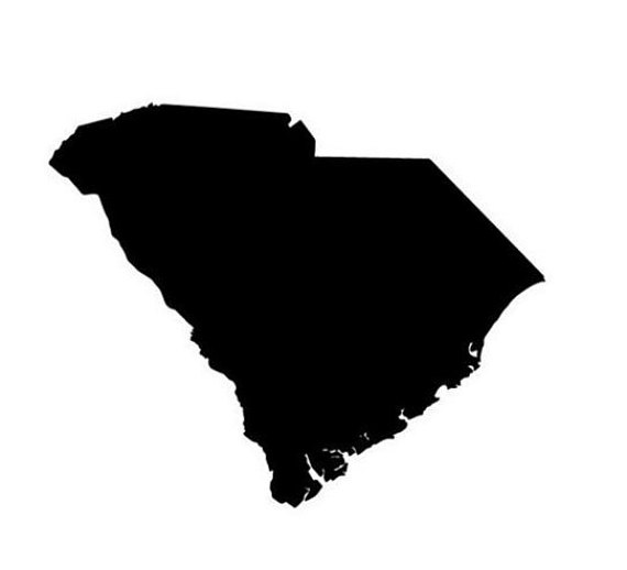 570x518 State Of South Carolina Sc Outline Svg Digital Download Cuttable
