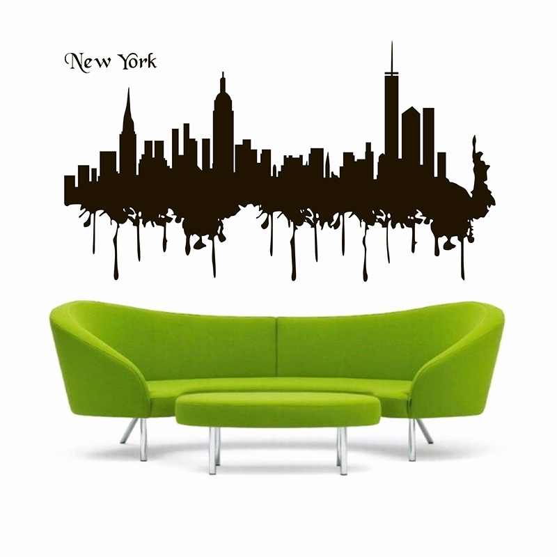 800x800 Nyc Skyline Wall Decal Unique Paris Skyline Silhouette Wall Decal