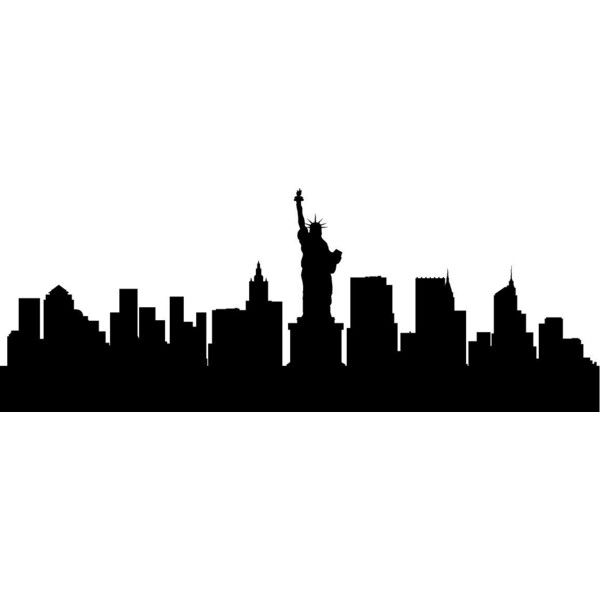 600x600 New York City Skyline Big Apple Silhouette Vinyl Decal Home Decor