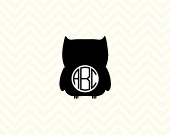340x270 Owl Svg Cut Files, Owl Clipart, Bundle Svg, Owl Monogram Frames