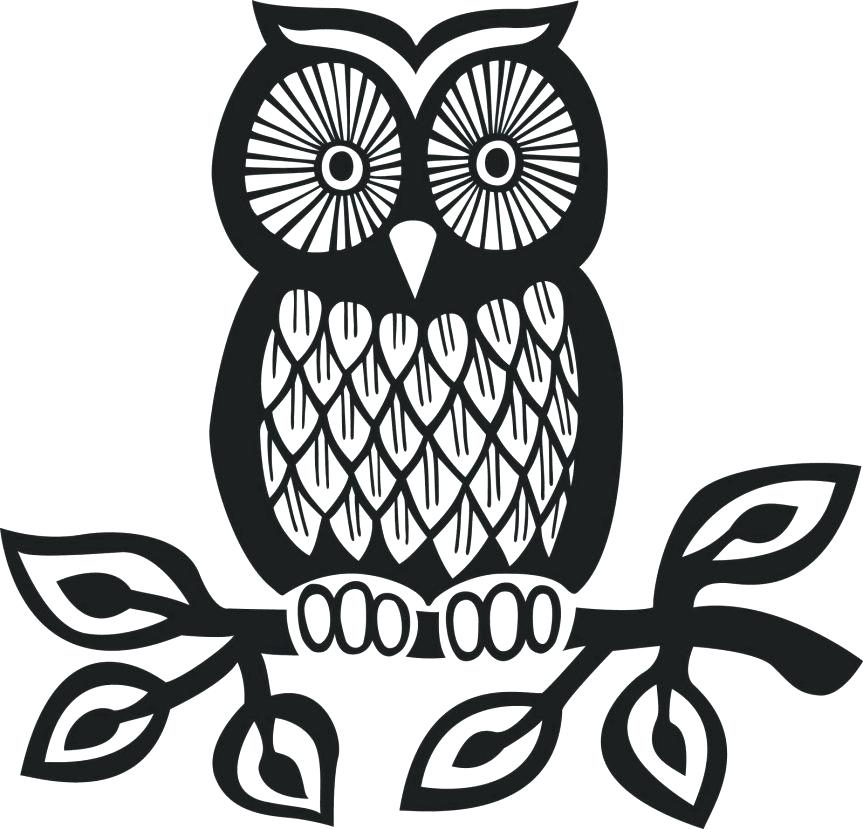 863x829 Owl Simple Outline Tattoo Template Format Outline Owl Tattoo Owl