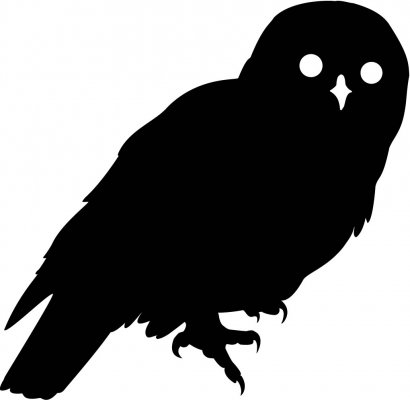410x400 Barred Owl Clipart Black And White