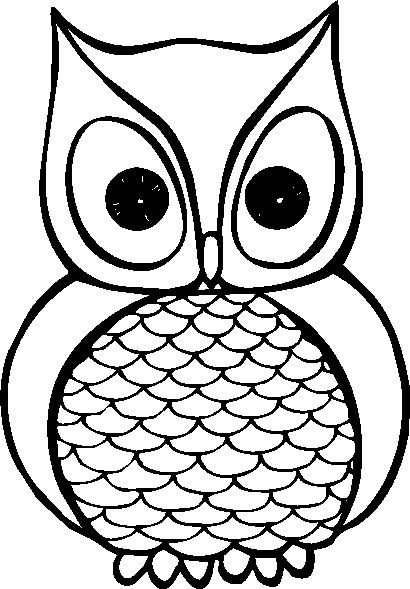 410x589 Free Owl Clipart Black And White Image