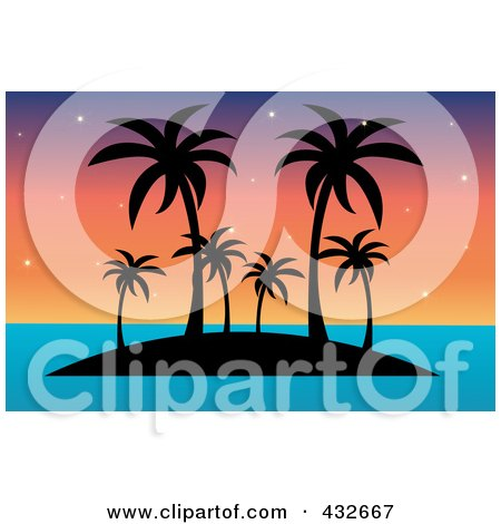 450x470 Royalty Free (Rf) Clipart Illustration A Black Silhouette