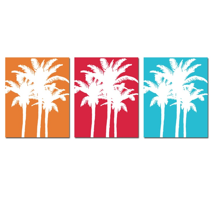 736x736 Silhouette Palm Trees With Lounge Chairs And Parasol On The Beach