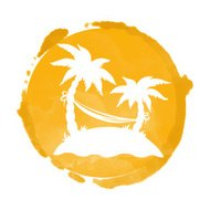 190x190 Watercolor Silhouettes Of Palm Trees Premium Clipart