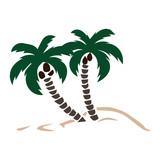 160x160 Sea Palm Sun Mountain Silhouette Black Stock Photo And Royalty