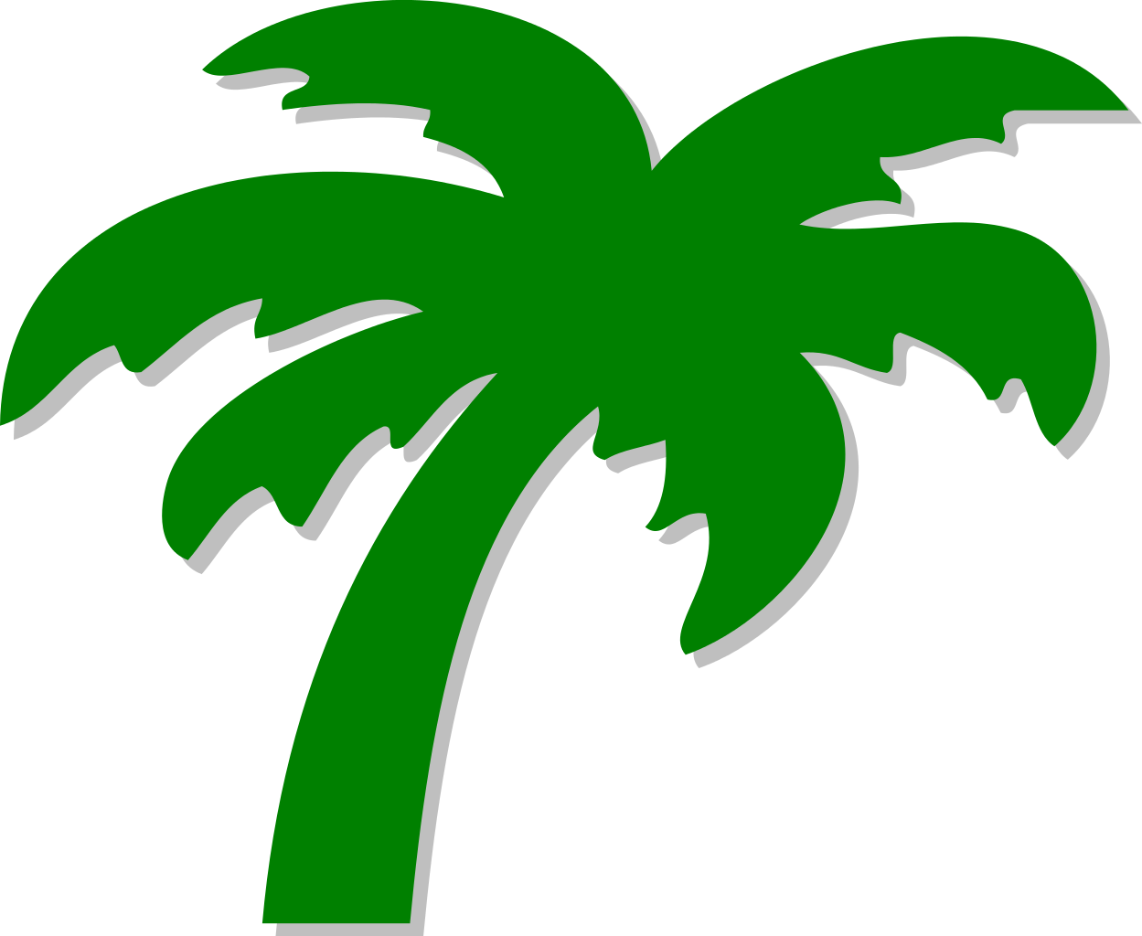 Silhouette Of Palm Trees at GetDrawings.com | Free for personal use ...