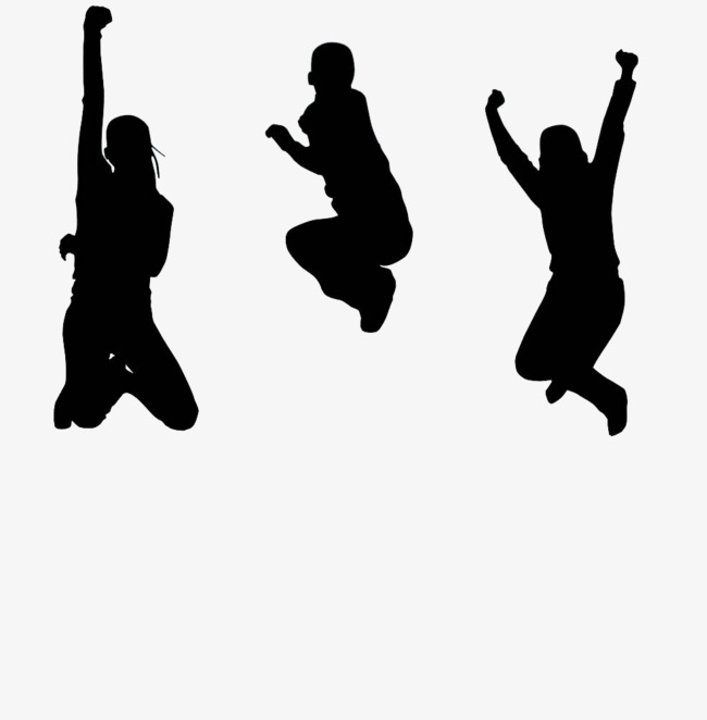 650x662 Black Jumping Silhouette, Jumping Up People, Jump, Character Png