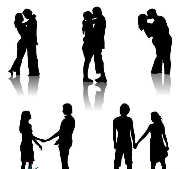 583x540 Silhouette Clipart Couple