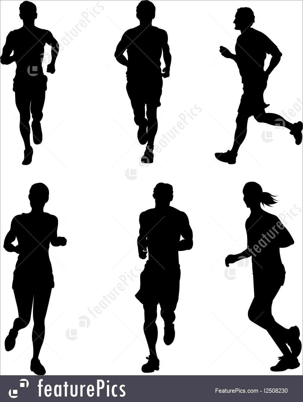 1051x1392 Running People Illustration