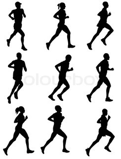 245x320 30 High Quality Silhouettes Of People Running