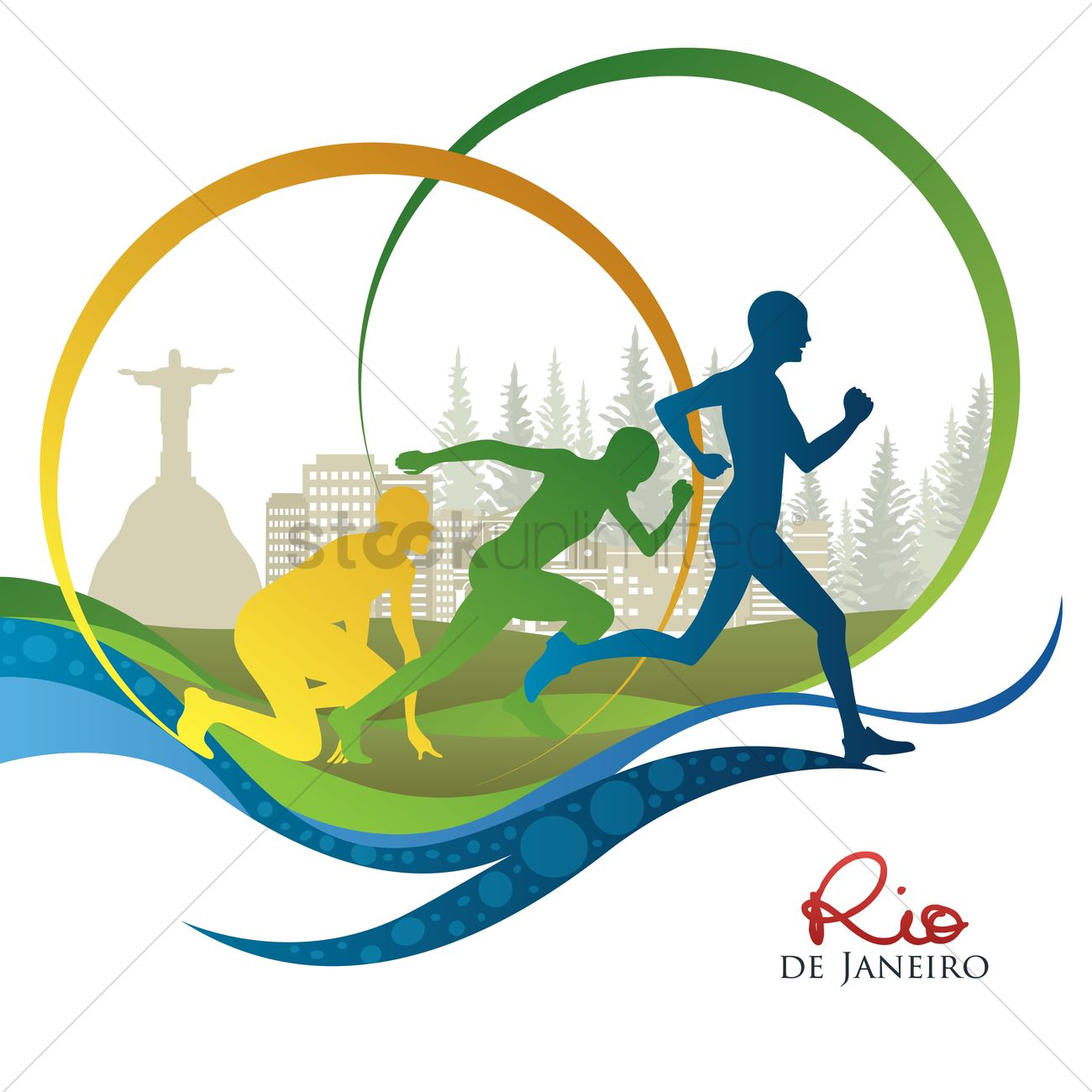 1300x1300 Silhouette Of People Running Vector Image