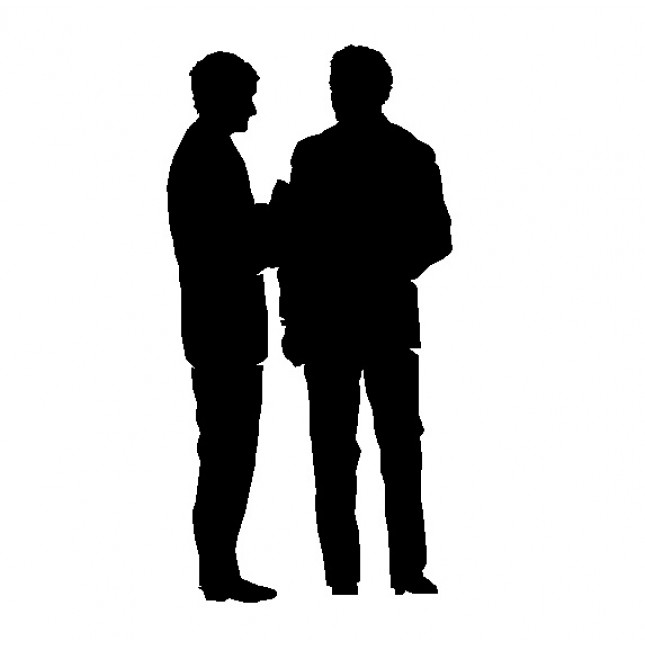 645x645 People Elevation Silhouette Cad Drawing