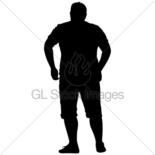 500x500 Silhouette Of People Standing Full And Thick On White Bac Gl
