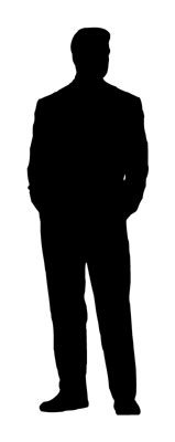 159x400 Man Standing Silhouette Clipart Panda