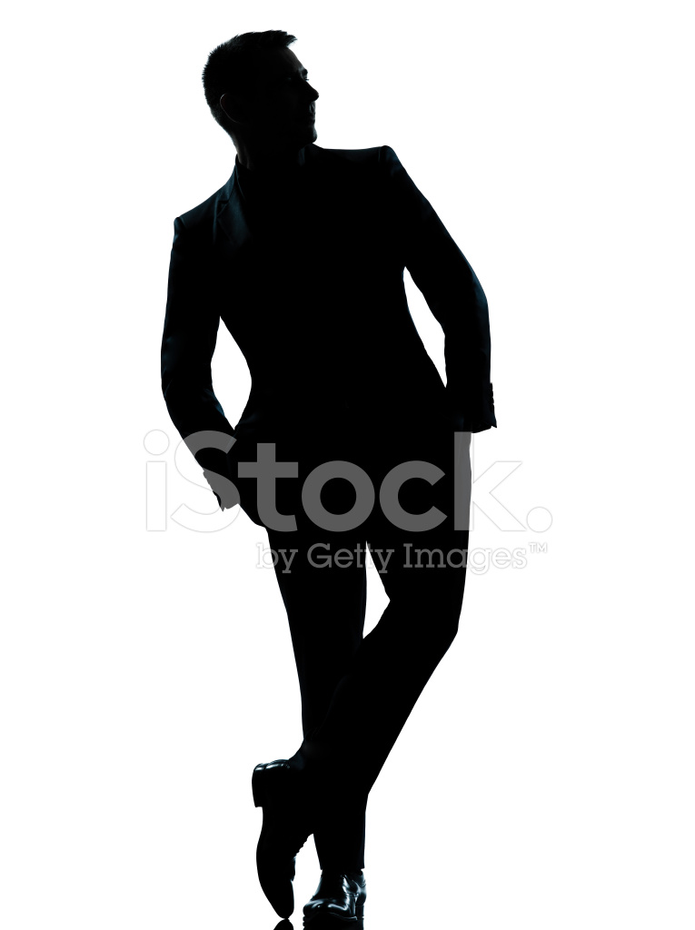 765x1024 One Business Man Standing Full Length Hands In Pocket Silhouette