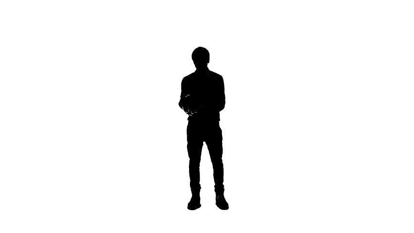 852x480 Silhouette Of A Young Boy With The Ball Who Learns To Play