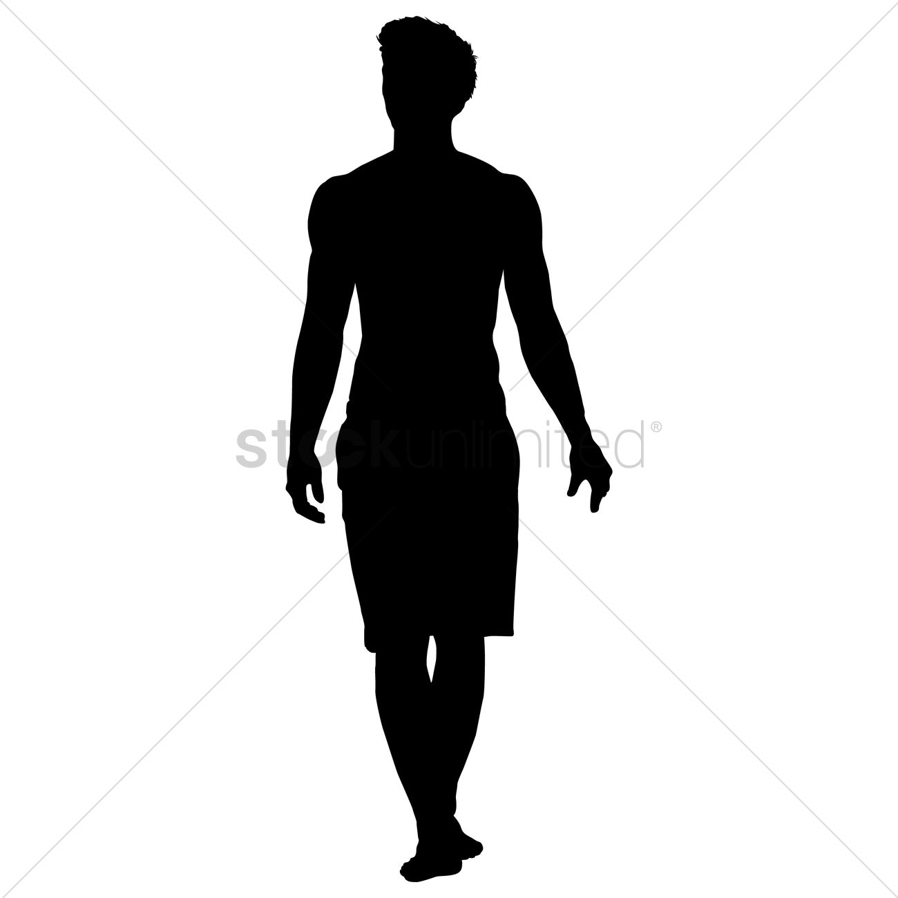 1300x1300 Silhouette Of A Man Standing Vector Image