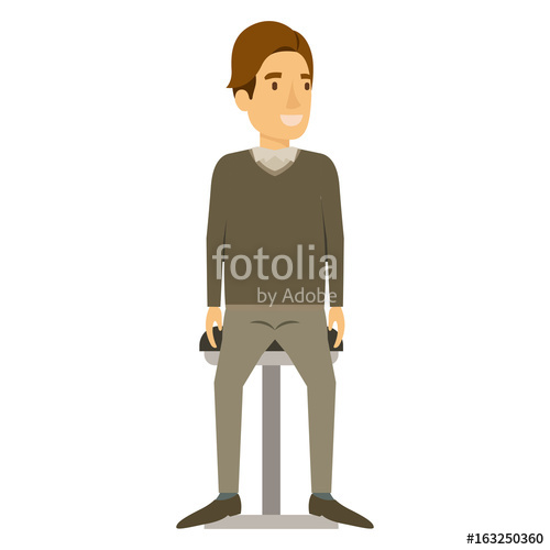 500x500 Colorful Silhouette Of Man In Formal Clothes And Brown Hair Side
