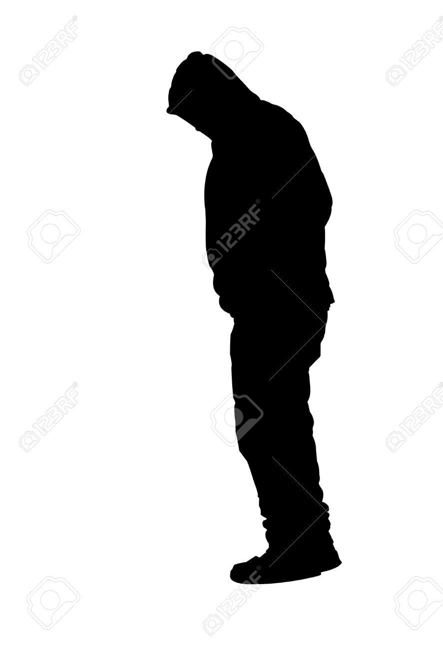 887x1300 Of Hooded Person Clipart