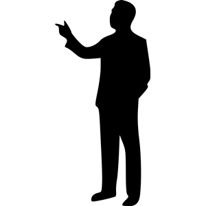 300x300 Free Person Pointing Silhouette Clipart Png Collection