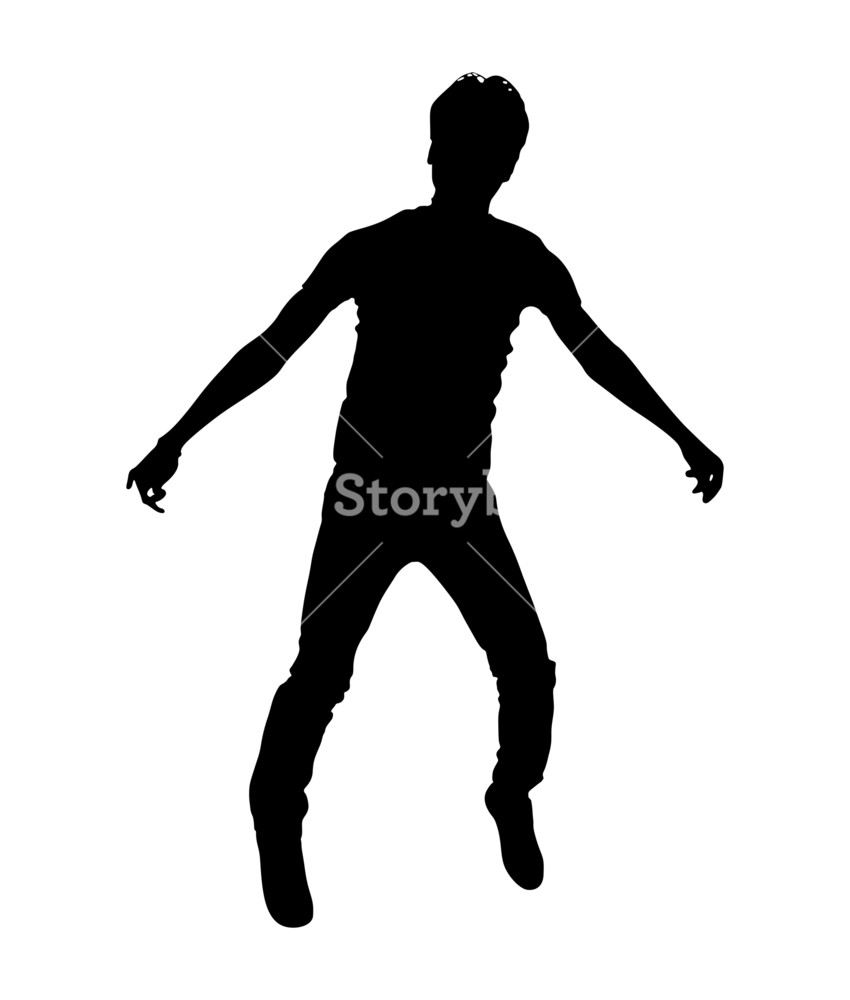 850x1000 Man Standing Shape Royalty Free Stock Image